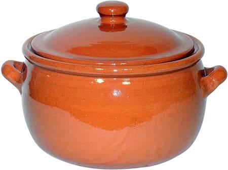 Aspetto esterno della pentola di terracotta con coperchio Amazingcookware